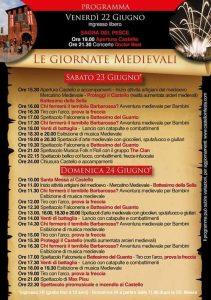 Programma della Festa al Castello di Legnano 2018