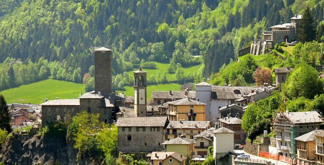 Il borgo di Gromo, nell'Alta Val Seriana